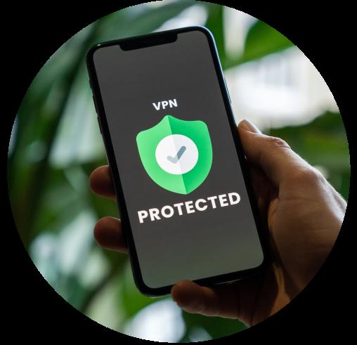 téléphone avec VPN activé